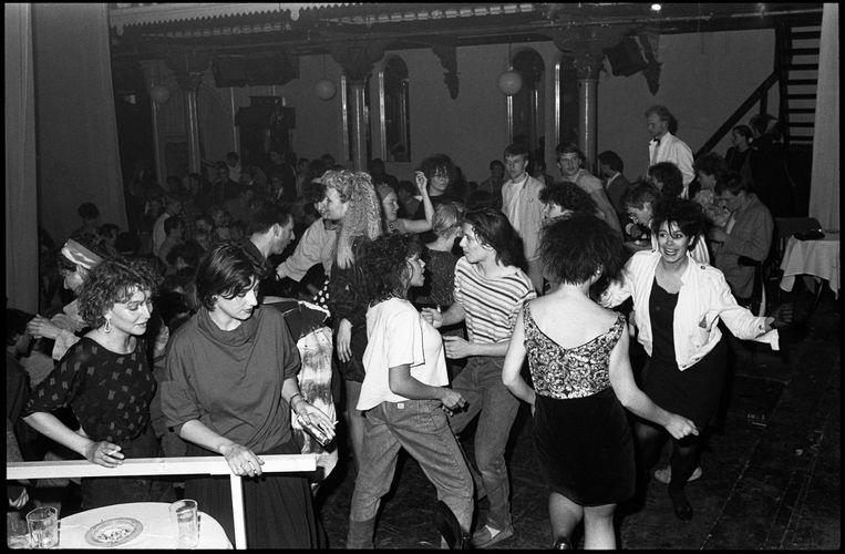Een editie van Pep Club (11 mei 1984), de populaire dansnacht opgezet door dj Eddy De Clercq. Beeld Roy Tee