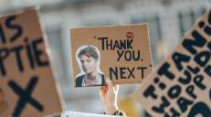 fotoreeks over Zo geestig waren de slogans van de klimaatspijbelaars in Leuven