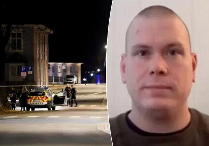 Politie op de plaats van het drama/De vermoedelijke dader, Espen Andersen Bråthen (37).