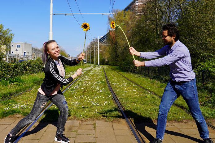 Initiatiefnemers Britt Planken en Wessel Hebing.