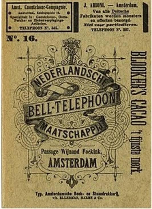 Het Bell-Telephoon boek uit 1891. Tien jaar na de verschijning van de eerste telefoongids in 1881.