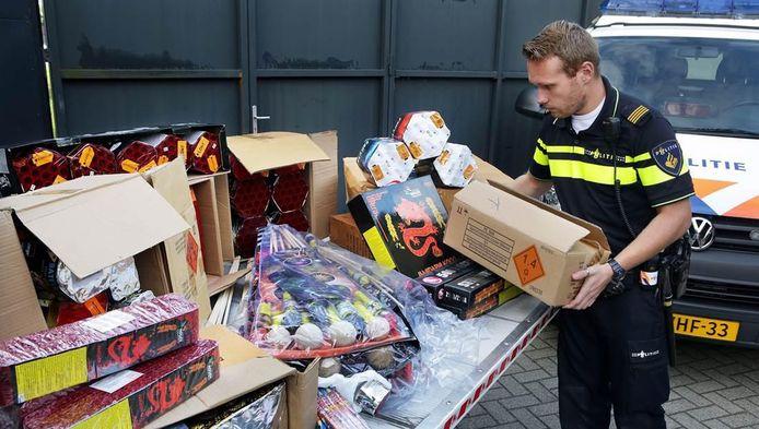 De politie vond eerder deze maand illegaal vuurwerk in Leidschendam.