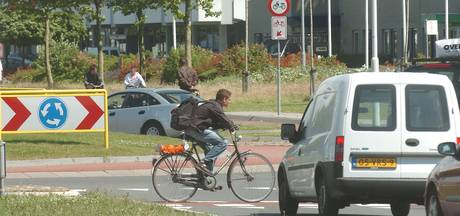 Rotonde Nansenplein in Goes veiliger voor fietsers