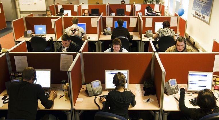 Een callcenter in Zoetermeer. Beeld anp
