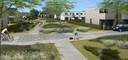 Een simulatiebeeld van de nieuwe woonwijk in Astene.