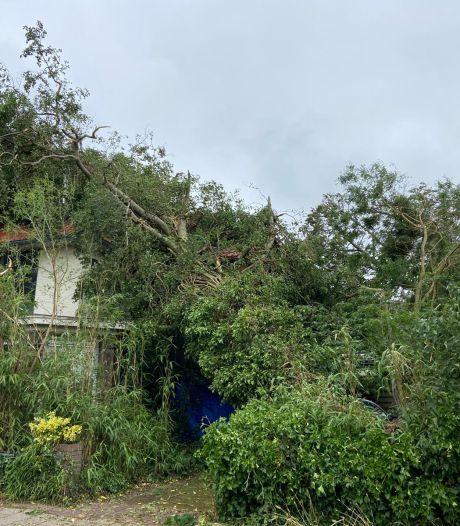 Naar schatting 10 tot 20 woningen in Leersum onbewoonbaar door noodweer: 'Het lijkt een soort oorlogsgebied'