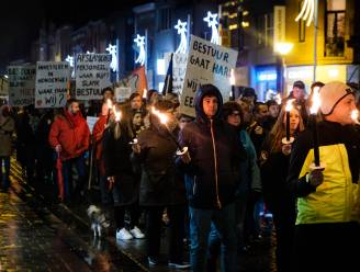 IN BEELD. Opnieuw staking en betoging tegen besparingen op personeel