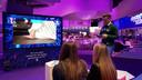 Een interactief spel van LiveWall op de televisie.