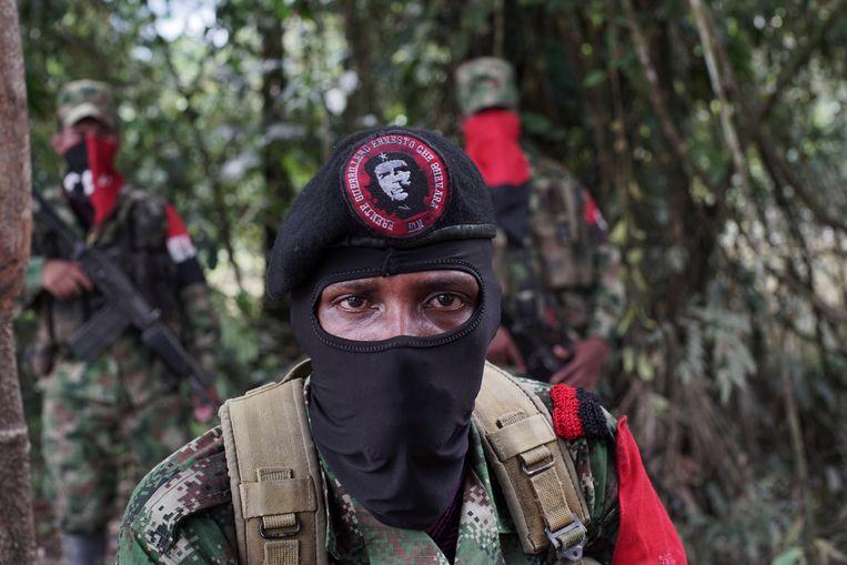 Een commandant van het ELN-guerrillaleger in 2017. Beeld Reuters