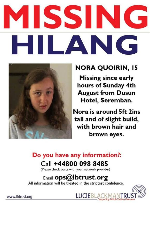 Vermissingsposter Nora
