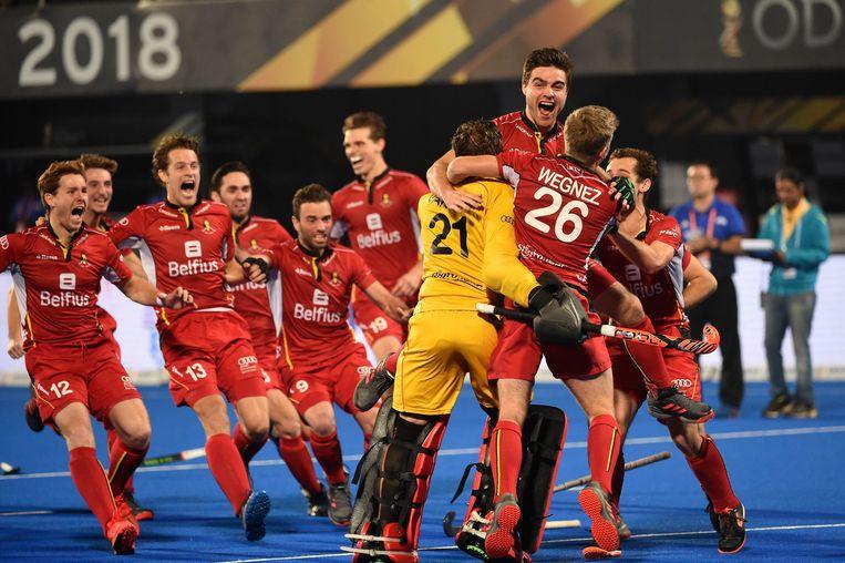 De Red Lions zijn wereldkampioen hockey. Beeld Photo News