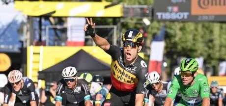 Alleskunner Van Aert wint na bergrit en tijdrit ook massasprint op Champs-Élysées
