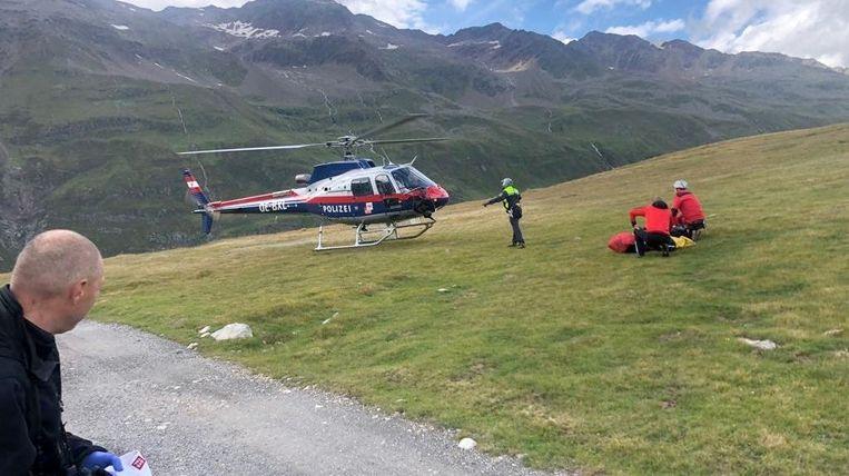 Het koppel werd gevonden door een reddingshelikopter.