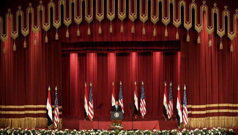 Uit de woorden van de Amerikaanse president Obama 'spreekt een nieuwe en andere Amerikaanse houding met betrekking tot het Palestijnse vraagstuk'. Foto: EPA/Mike Nelson Beeld