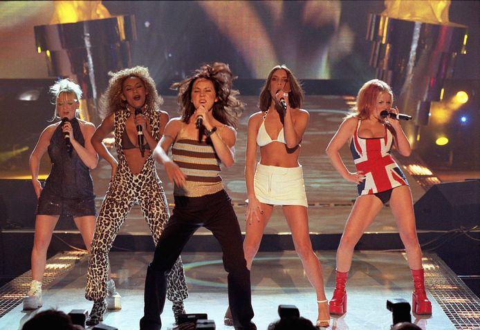 De Spice Girls tijdens hun hoogdagen in de nineties.