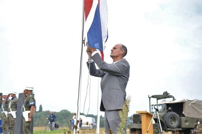 RVW bestuurder Richard Veldt tijdens de Airborne Herdenking op de Renkumse Heide