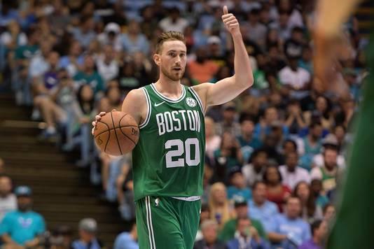 Gordon Hayward in actie namens de Boston Celtics.