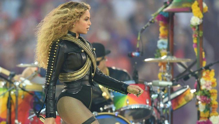 Beyoncé tijdens haar optreden op de Super Bowl, eerder deze maand. Beeld ANP