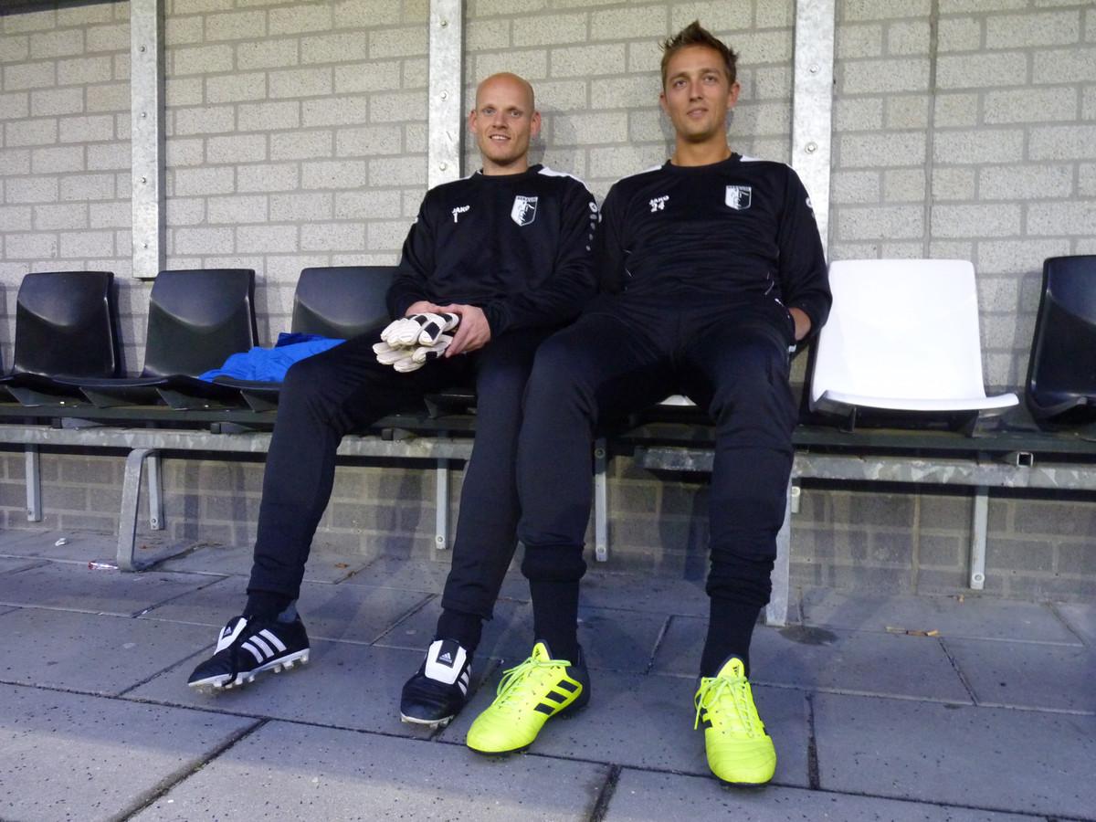 Dominic van Hoof (33), Jelle Brouwer (30), doelmannen van Berkum.