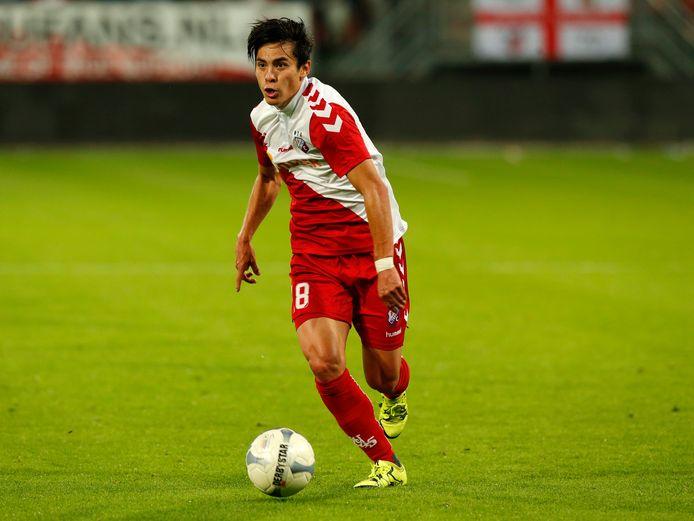 Rubio Rubin in actie namens FC Utrecht tegen Cambuur op 26 september 2015.