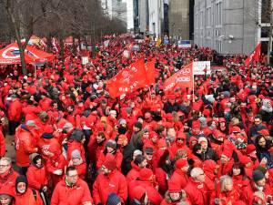 Plus de 10.000 militants FGTB ont manifesté à Bruxelles