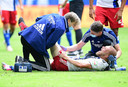 De 22-jarige Van Drongelen liep eind juni in het laatste competitieduel van het afgelopen seizoen een ernstige knieblessure op.