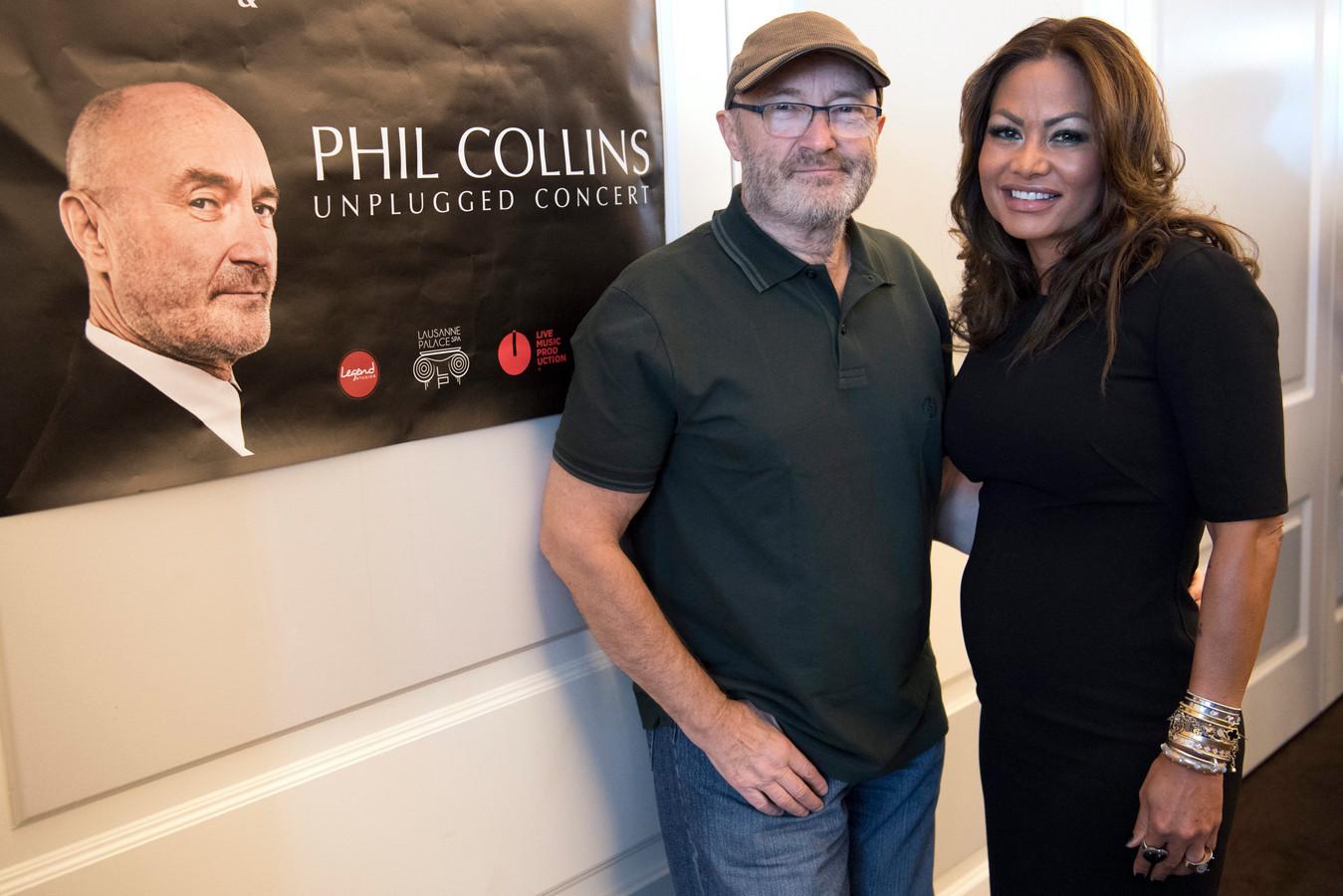 Phil Collins en Orianne Cevey