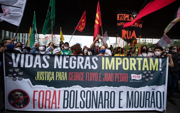 Betogers in São Paulo. Beeld AP