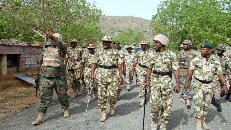 Het Nigeriaans leger op inspectie in Borno Beeld afp