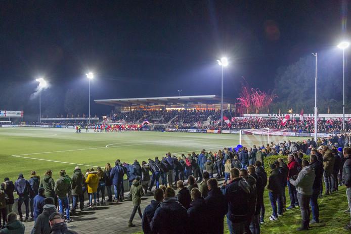 Het racistische incident vond plaats op sportpark De Koerbelt in Rijssen.