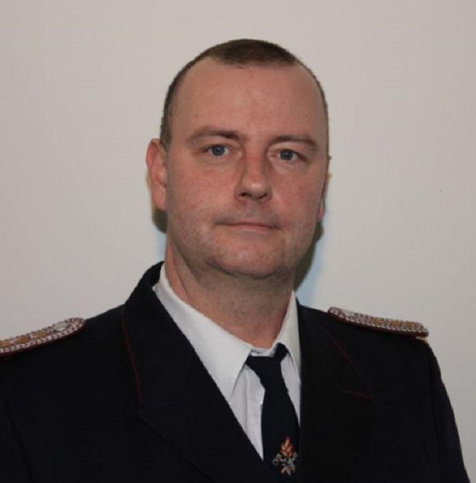 André Muswieck van de vrijwillige brandweer op het eiland Rügen in Merkels eigen kiesdistrict.