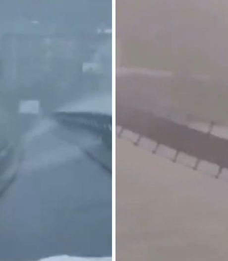 Un pont gravement endommagé par des conditions météorologiques extrêmes en Chine