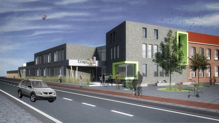 Zo zal het nieuwe gebouw, met tien klassen, eruitzien.