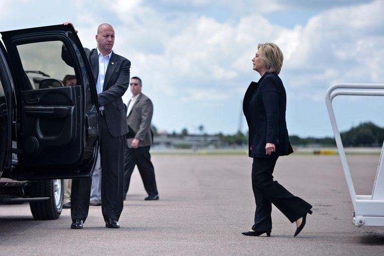 Hillary Clinton in Tampa, Florida begin september 2016. Beeld afp