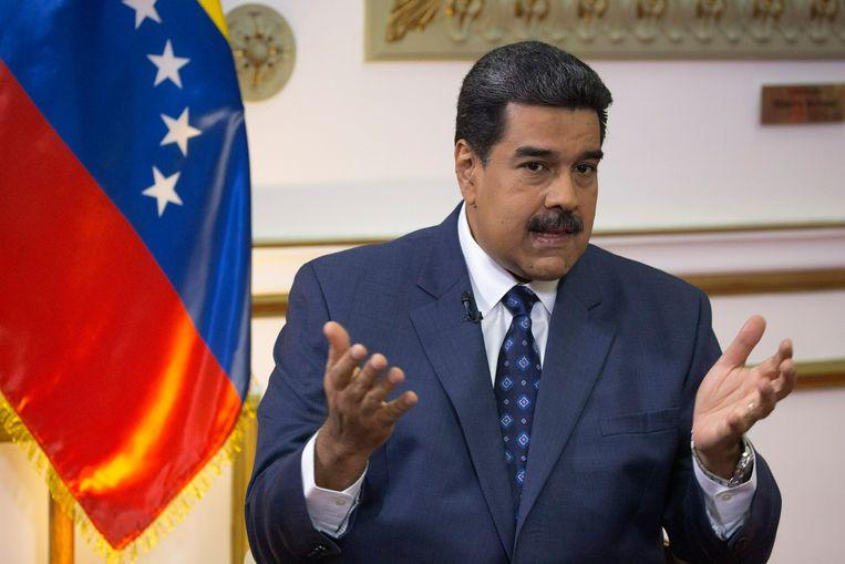 De Venezolaanse president Nicolas Maduro. Beeld AP