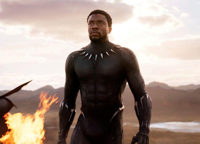 Chadwick Boseman schittert als T'Challa in 'Black Panther', een inspiratiebron voor Coates. Beeld AP