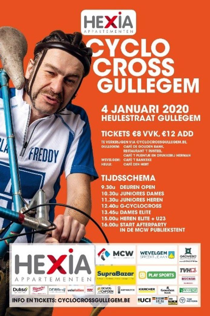 De affiche van de Hexia Cyclocross Gullegem 2020