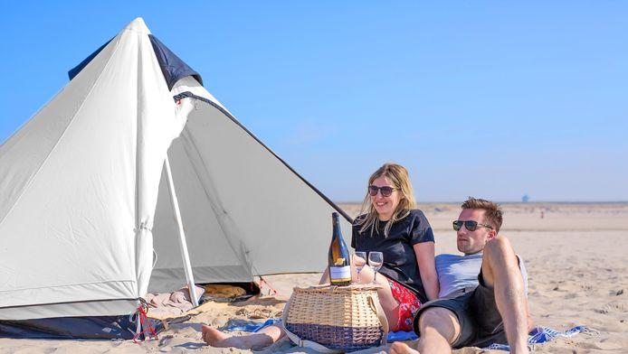 De Strandkamping is één van de activiteiten van 200 jaar Feest aan Zee.