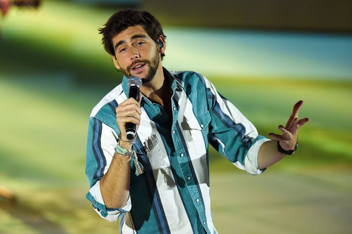 Álvaro Soler tijdens een optreden in Milaan.