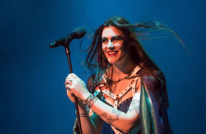 Floor Jansen, zangeres van Nightwish.