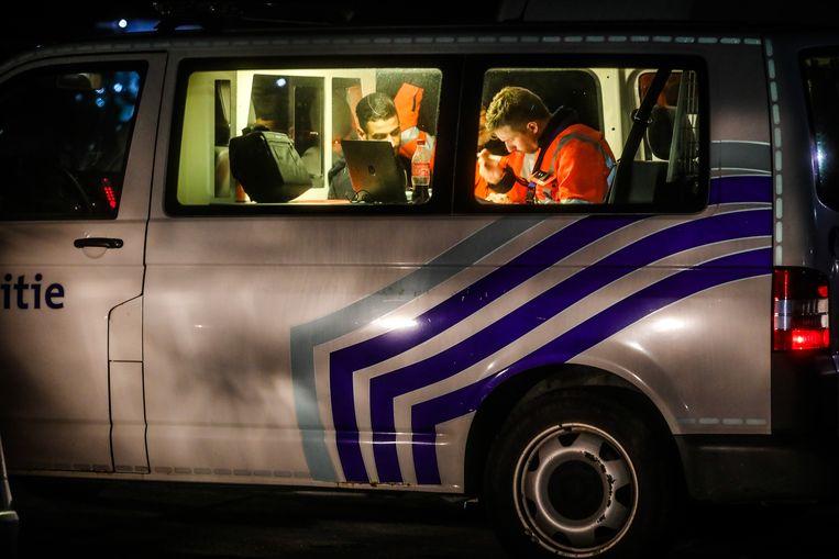 De politie zette 150 mensen in voor de actie