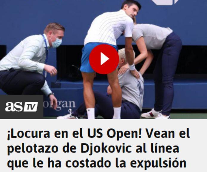 'AS' over Djokovic.