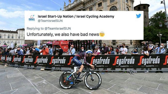 De tweet van Israël Start-Up Nation.