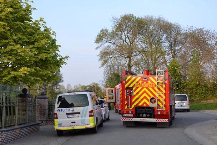 De politie en brandweer waren snel ter plaatse.