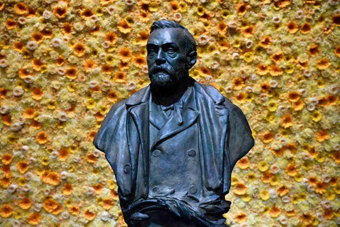 Een buste van Alfred Nobel, oprichter van de Nobelprijzen.