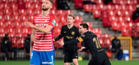 Koeman en De Jong aan hand van Messi en Griezmann voorbij Granada