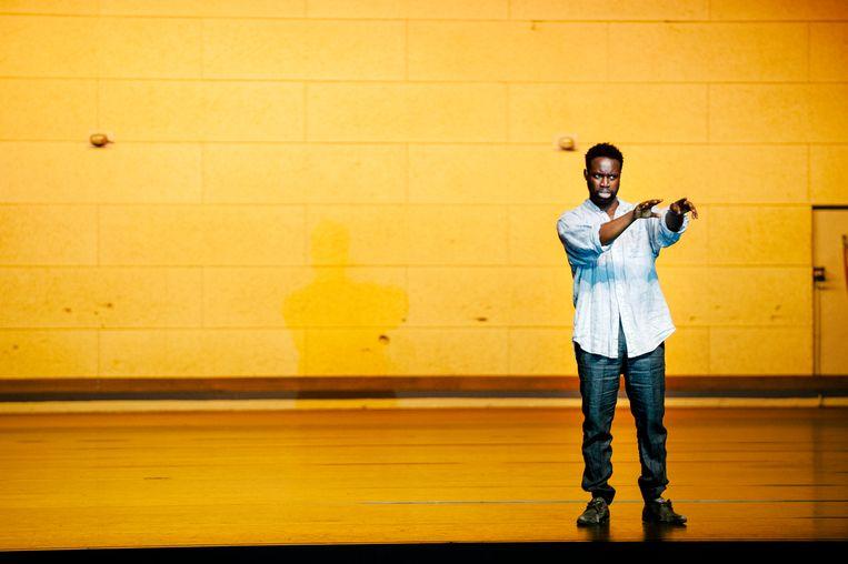Emmanuel Ohene Boafo in Sea Wall.  Beeld Koen Veldman