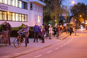 Het uitdelen van de griepprik in Baarn leidde onlangs tot lange rijen.