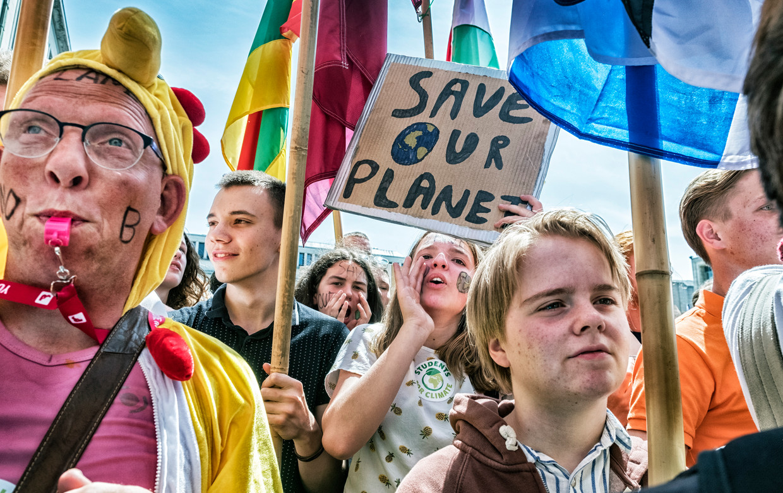 De klimaatmars in Brussel.
