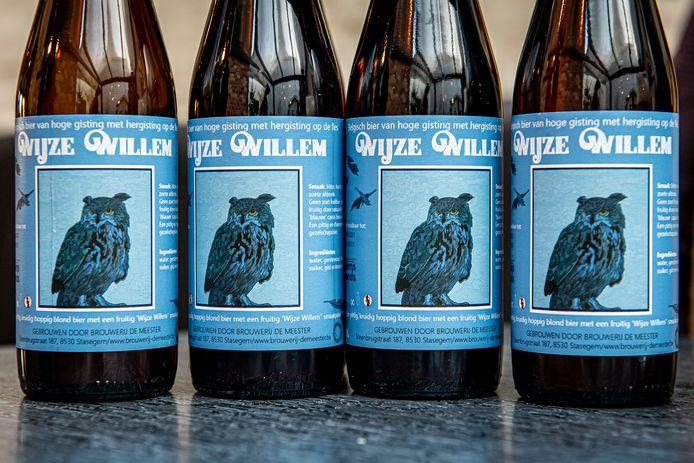 De 'Wijze Willem', een pittig blond biertje.